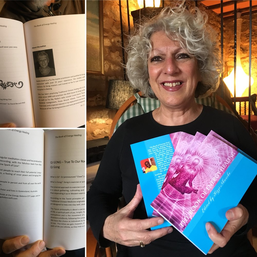 Nadia has contributed a chapter on Spontaneous Qi Gong to The Energy Healing Book and is also a regular contributor to the online Energy Healing Magazine!