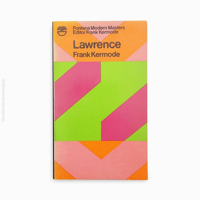 Lawrence by Frank Kermode. A Fontana Modern Masters book. Published by Fontana/Collins. 1973. Cover painting by Oliver Bevan. . . #fontana #fontanabooks #collinsbooks #lawrence #frankkermode  #painting #modernist #modernism #oliverbevan #fontanamodernmasters #minimal #minimalism #minimalist #design #bookcover #bookcoverdesign #midcenturymodern #midcenturydesign #print #typography #graphicdesigner #designlife #collectandcatalogue #graphicdesign #instabook #classicbooks #print #20thcentury #vintage #classic #retro