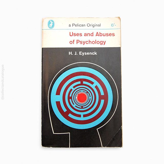 Uses and Abuses of Psychology by H.J.Eysenck. A Pelican book. Published by a Penguin. 1966. Cover designed by Eric Kitson. . . #psychology #penguinbooks #penguinbookcovers #erickitson #pelicanbooks #modernist #modernism  #minimal #minimalism #minimalist #design #bookcover #bookcoverdesign #midcenturymodern #midcenturydesign #print #typography #graphicdesigner #designlife #collectandcatalogue #graphicdesign #instabook #classicbooks #print #20thcentury #vintage #classic #retro