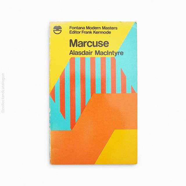 Marcuse by Alasdair MacIntyre. A Fontana Modern Masters book. Published by Fontana/Collins. 1970. Cover painting by Oliver Bevan. . . #fontana #fontanabooks #collinsbooks #marcuse #painting #modernist #modernism #oliverbevan #fontanamodernmasters #minimal #minimalism #minimalist #design #bookcover #bookcoverdesign #midcenturymodern #midcenturydesign #print #typography #graphicdesigner #designlife #collectandcatalogue #graphicdesign #instabook #classicbooks #print #20thcentury #vintage #classic #retro