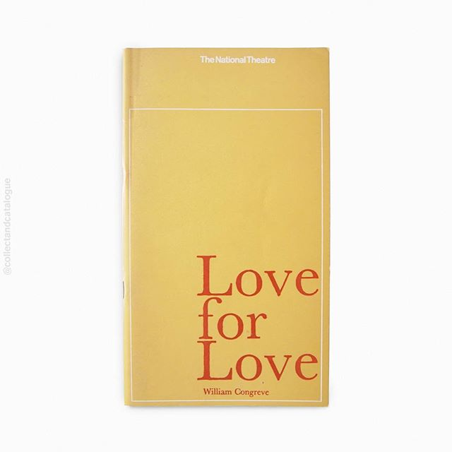 Love for Love by William Congreve. A National Theatre programme. Published by the National Theatre. 1965. Designed by Ken Briggs. . . #kenbriggs #nationaltheatre #theatreprogramme #thenationaltheatre #loveforlove #modernism #minimal #minimalism #minimalist #britishmodernism #bookcover #bookcoverdesign #midcenturymodern #midcenturydesign #print #typography #graphicdesigner #designlife #collectandcatalogue #graphicdesign #instabook #classicbooks #print #20thcentury #vintage #classic #retro #booksofinstagram