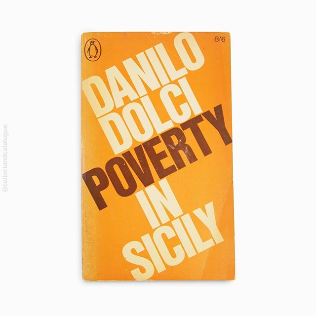 Poverty in Sicily by Danilo Dolci. Published by Penguin. 1966. Cover designed by Geoffrey Cannon. . .  #penguinbooks #penguinbookcovers #sicily  #geoffreycannon #pelicanbooks #modernist #modernism  #minimal #minimalism #minimalist #design #bookcover #bookcoverdesign #midcenturymodern #midcenturydesign #print #typography #graphicdesigner #designlife #collectandcatalogue #graphicdesign #instabook #classicbooks #print #20thcentury #vintage #classic #retro