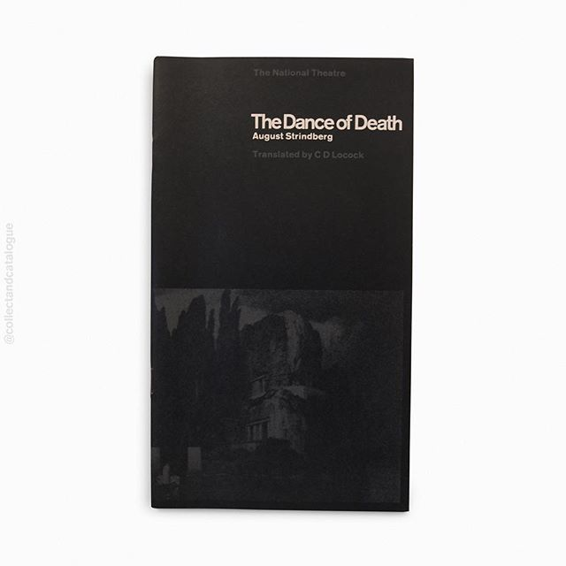 The Dance of Death by August Strindberg. Translated by C D Locock. A National Theatre programme. Published by the National Theatre. 1967. Designed by Ken Briggs & Susan Chennells. . . #kenbriggs #suechennells  #nationaltheatre #theatreprogramme #thenationaltheatre #thedanceofdeath #modernism #minimal #minimalism #minimalist #britishmodernism #bookcover #bookcoverdesign #midcenturymodern #midcenturydesign #print #typography #graphicdesigner #designlife #collectandcatalogue #graphicdesign #instabook #classicbooks #print #20thcentury #vintage #classic #retro #booksofinstagram