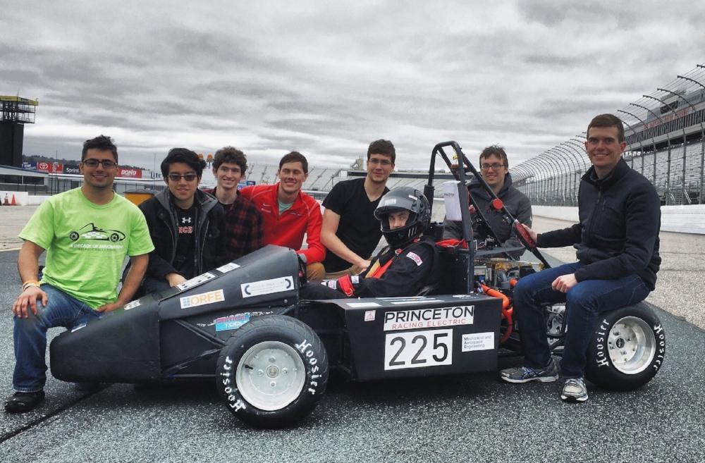 2016 Formula Hybrid Competition  Left to right: Ben Sorkin '17, Jasper Gebhardt '20, Kirk Robinson '17, Coleman Merchant '19, Luke Amber '15, Tarik Dzanic '18, Nathaniel Kavaler '18, Joe Yates '17.