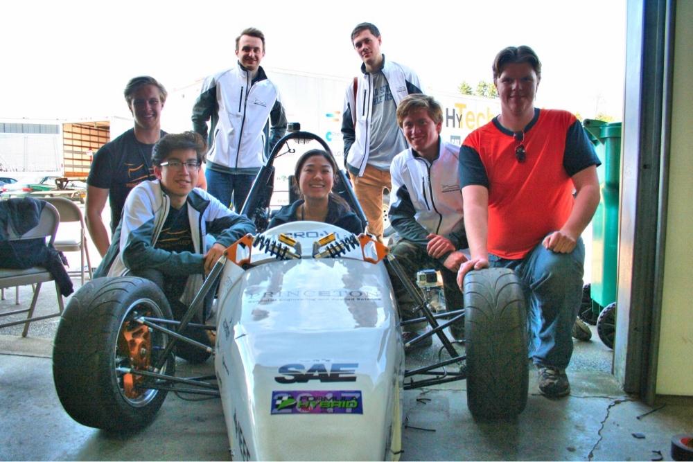 2017 Formula Hybrid Competition  Left to right: Max Schwegman '18, Jasper Gebhardt '20, Tarik Dzanic '18, Angel Fan '19, Coleman Merchant '19, Nicolas Viglucci '19, Tristan LaCombe '19.
