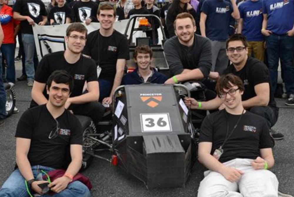 2015 Formula Hybrid Competition  Clockwise from bottom left: Santiago Aguirre '18, Luke Amber '15, Joe Yates '17, Kirk Robinson '17, Tarik Dzanic '18, Ben Sorkin '17, Nathaniel Kavaler '18.
