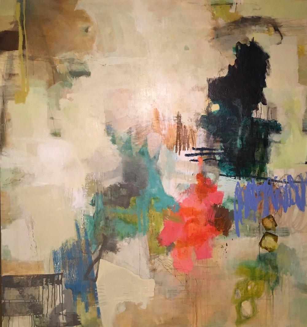 "STELLA! #20/ mixed media on canvas/ 77""x 66"""