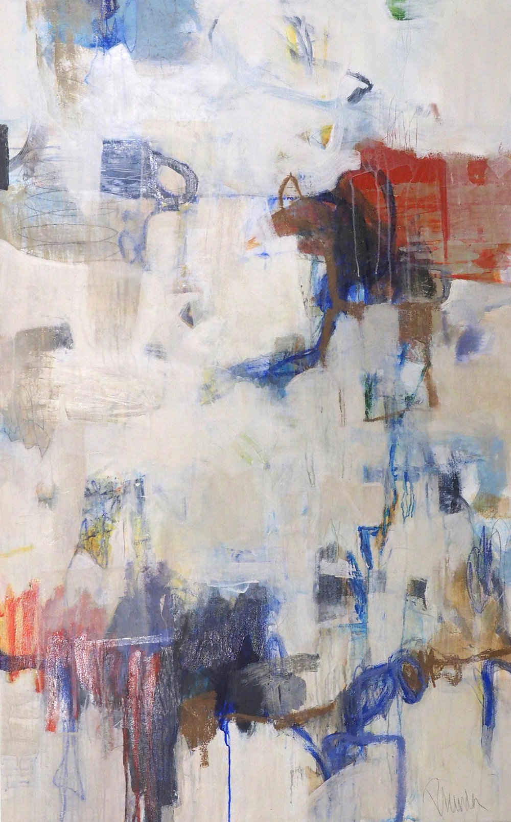 "I DO ON THE AVENUE/ mixed media on canvas/ 41"" x 65"""