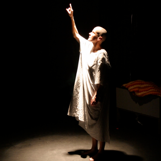 Nan McNamara in her  LADCC & LA Weekly Award winning role in  Wit, 2011  (photo credit Lindsay Schnebly)