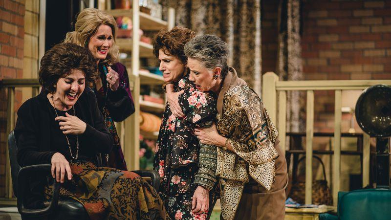 "The cast of ""Steel Magnolias,"" from left: Treva Tegtmeier, Nan McNamara, Deborah Marlowe, Lori Berg in The Actors Co-op production runs to May 5. (Matthew Gilmore)"