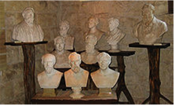 Plaster busts by Ney at the museum
