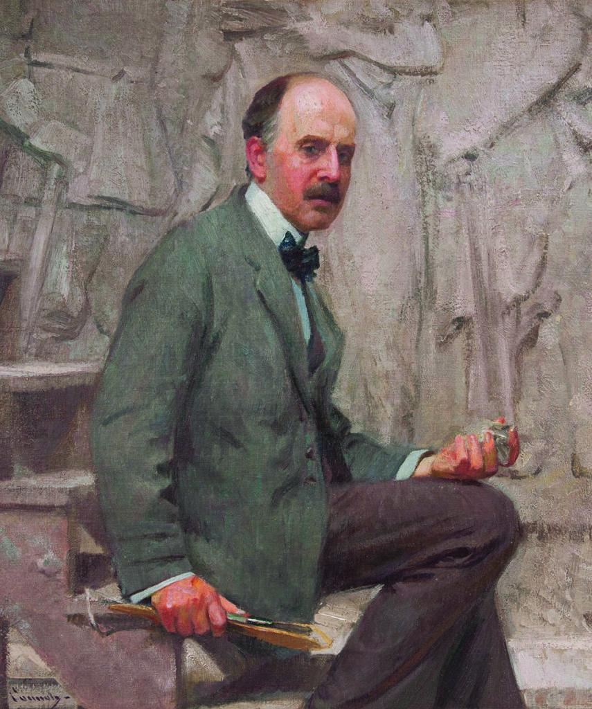 Robert Vonnoh,  Daniel Chester French , oil on canvas, 1913