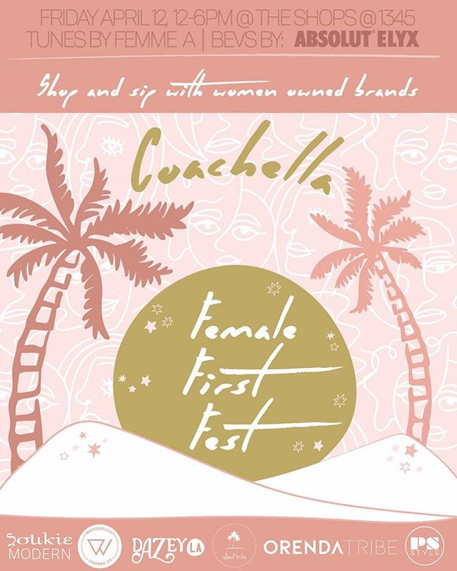 We will be ✨HERE✨ one week from today!  Join us as we shop, sip + celebrate women owned brands ✨Friday April 12th 12-6pm @theshopsat1345 💕Fab art by @dazey_la .. . . . . #wanderlust #wanderlustcamperco #psiloveyou #bossbabes #makersgonnamake #cochella2019 #friyayvibes #fridaymood #cochella #womeninbusiness #mompreneur #boss
