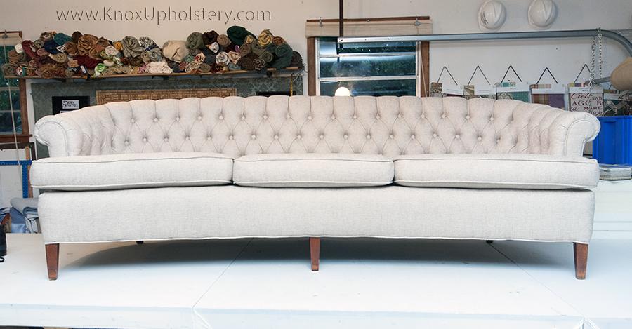 Deep Button Tufted Sofa