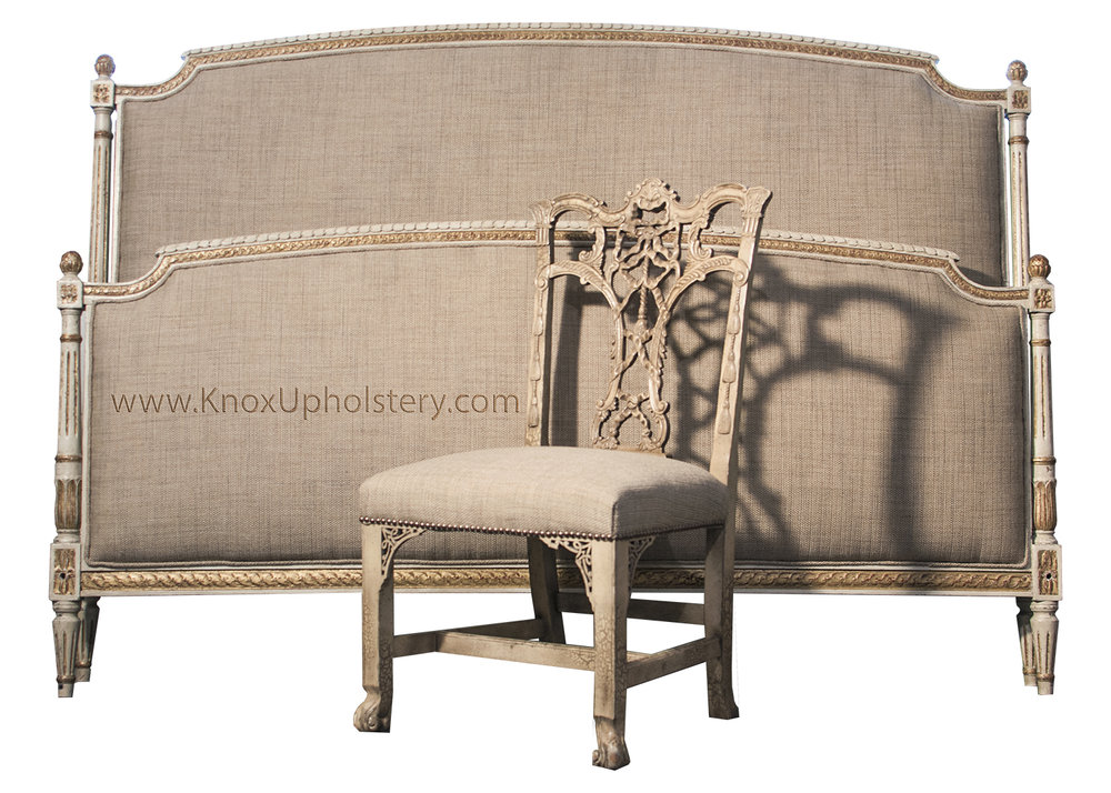 headboard, footboard and matching chair