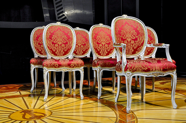 Set of upholstered chairs for the Clarence Brown Stage at the University of Tennessee - Knoxville