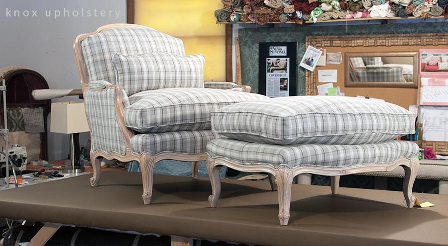 Bergerer Chair and ottoman
