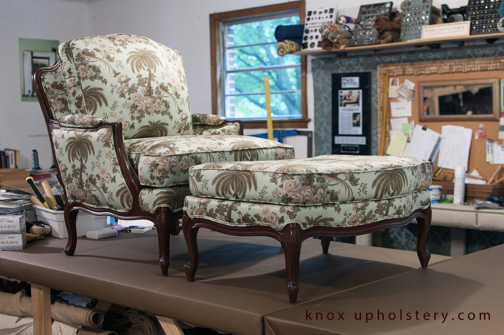 Bergerer Style Arm chair and ottoman