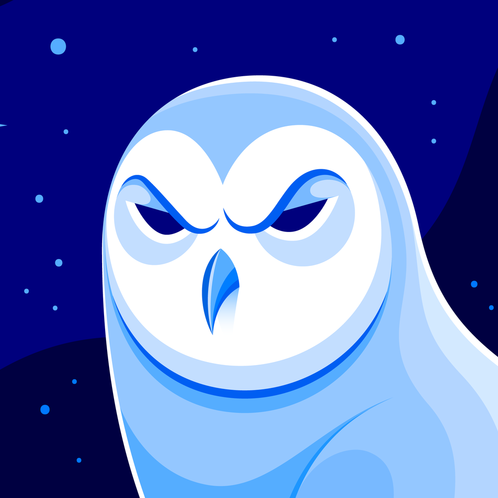 Night Owls May Face Special Challenges >> Snowy Owl Icon Jarod Octon