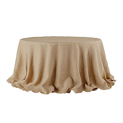 Burlap Table Cover.   Call to Reserve