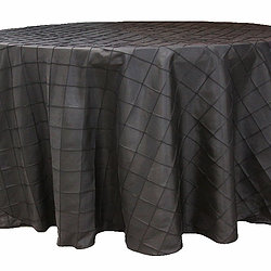 Black Pintuck Table Cover   Call to Reserve