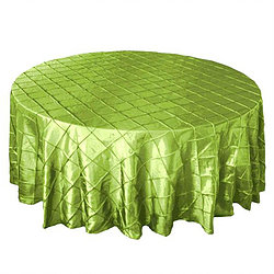 Apple Gr. Pintuck Table Cover   Call to Reserve