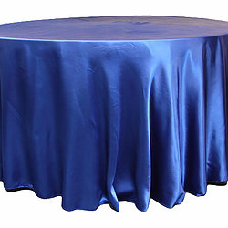 Royal Blue Satin Table Cover   Call to Reserve