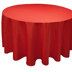 Red Satin Table Cover   Call to Reserve