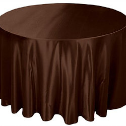 Brown Satin Table Cover   Reserve Now