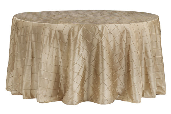 Champagne Pintuck Table Cuver   Call to Reserve