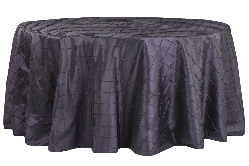 Eggplant Pintuck Table Cover   Call to Reserve