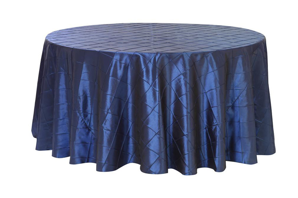 Navy Blue Pintuck Table Cover   Call to Reserve
