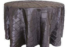 Pewter Pintuck Table Cover   Call to Reserve