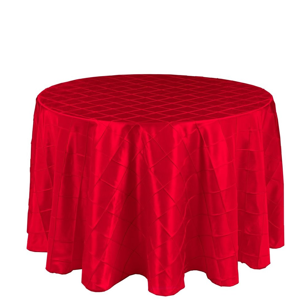 Red Pintuck Table Cover   Call to Reserve