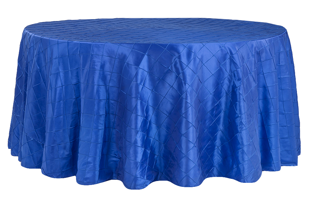 Royal Blue Pintuck Table Cover   Call to Reserve