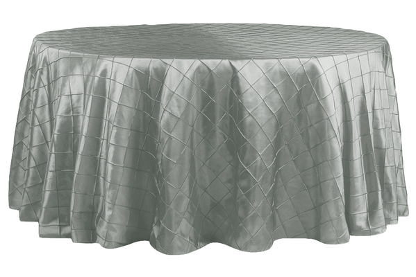 Silver Pintuck Table Cover   Call to Reserve