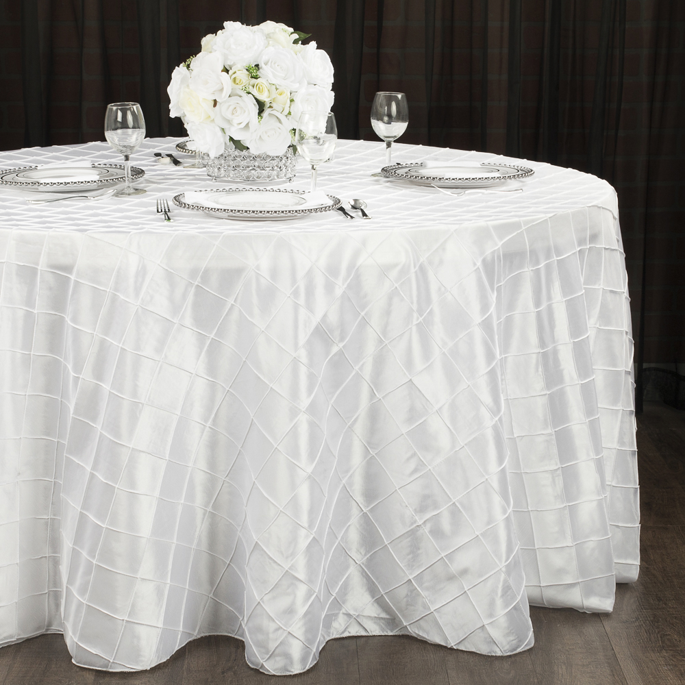 White Pintuck Table Cover   Call to Reserve