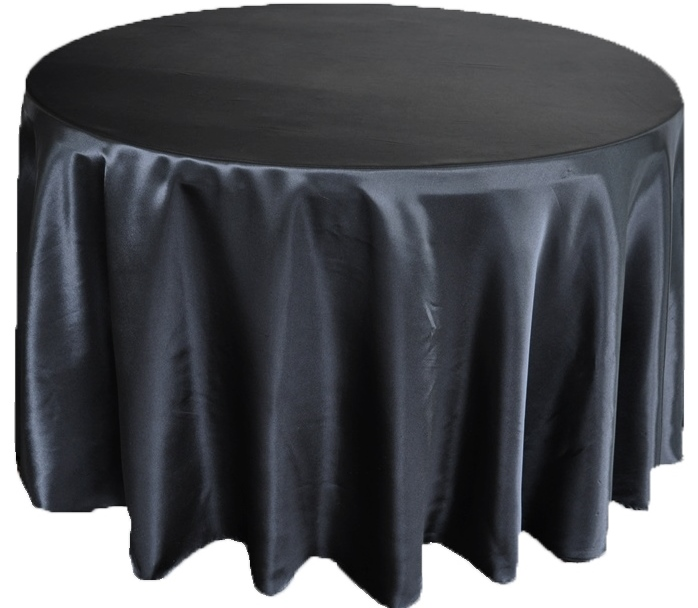 Black Satin Table Cover   Call to Reserve