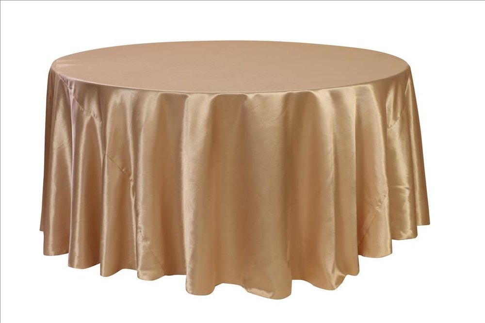 Champagne Satin Table Cover   Call to Reserve