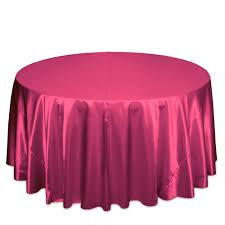 Hot Pink Satin Table Cover   Call to Reserve