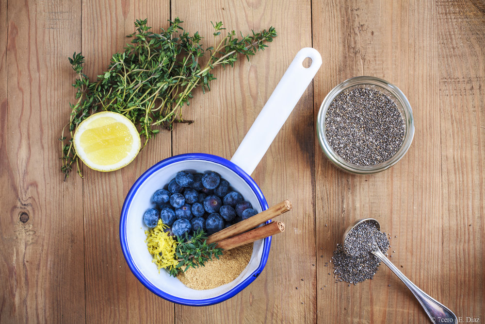 Blueberry chia jam can be made with as little as three ingredients!