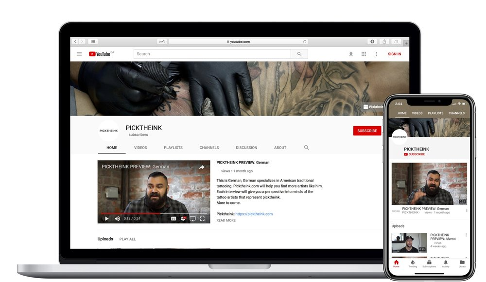 Picktheink.com on Youtube