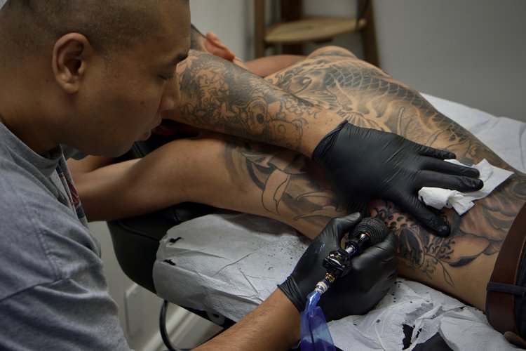 Shark is an asian style tattoo artist in Toronto. Find him on pick the ink. @master__shark.