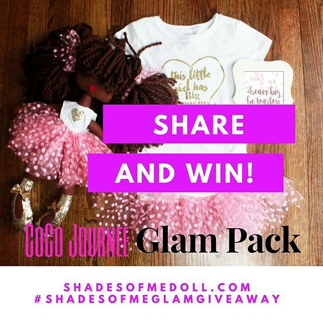 There is still time...Enter our Share to Win #Contest for a chance to win a full #shadesofmedoll Glam Pack! All you have to do is 1. Follow @shadesofmedoll 2. Share this post 3. Tag/mention @shadesofmedoll in your post 4. Use #shadesofmeglamgiveaway The winner will be announced today on our profile. #blackgirlmagic #curlykids #naturalhair #naturalhairstyles #browndolls #blackdolls #kidpreneur #kidsfashion #momlife #mommyandme
