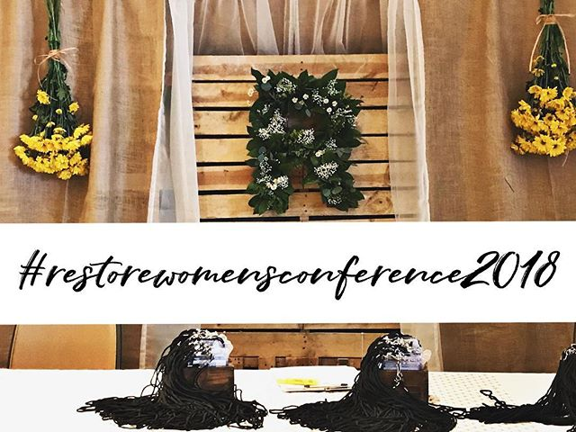 This weekend was AMAZING, we saw women breakdown for restoration, we saw women invite God into their heart and lives and so much more!!! What was your favorite part about the conference? What did you take home with you?  We would LOVE if you shared down below in the comments your experience and what God did for you, for others around you, and IN you!  Let's encourage and show one another love!  If you can use the hashtag #restorewomensconference2018