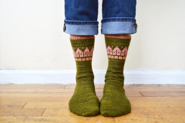 Rowhouse Socks  by Bonnie Sennott