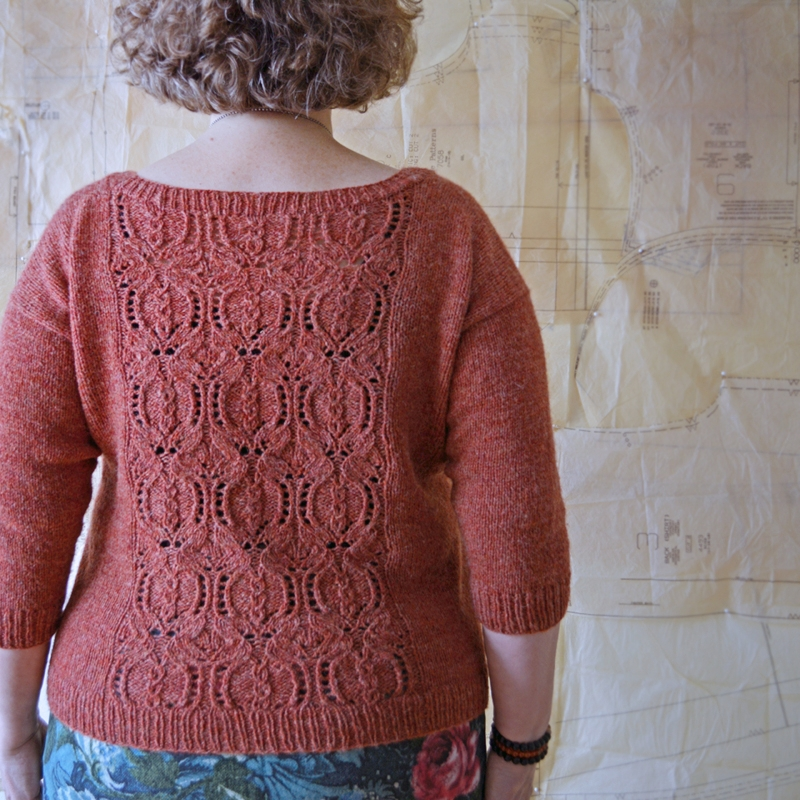 Reverse side,  Pom2 Pullover by Bonnie Sennott