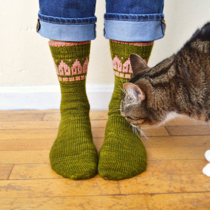 Rowhouse Socks, by Bonnie Sennott