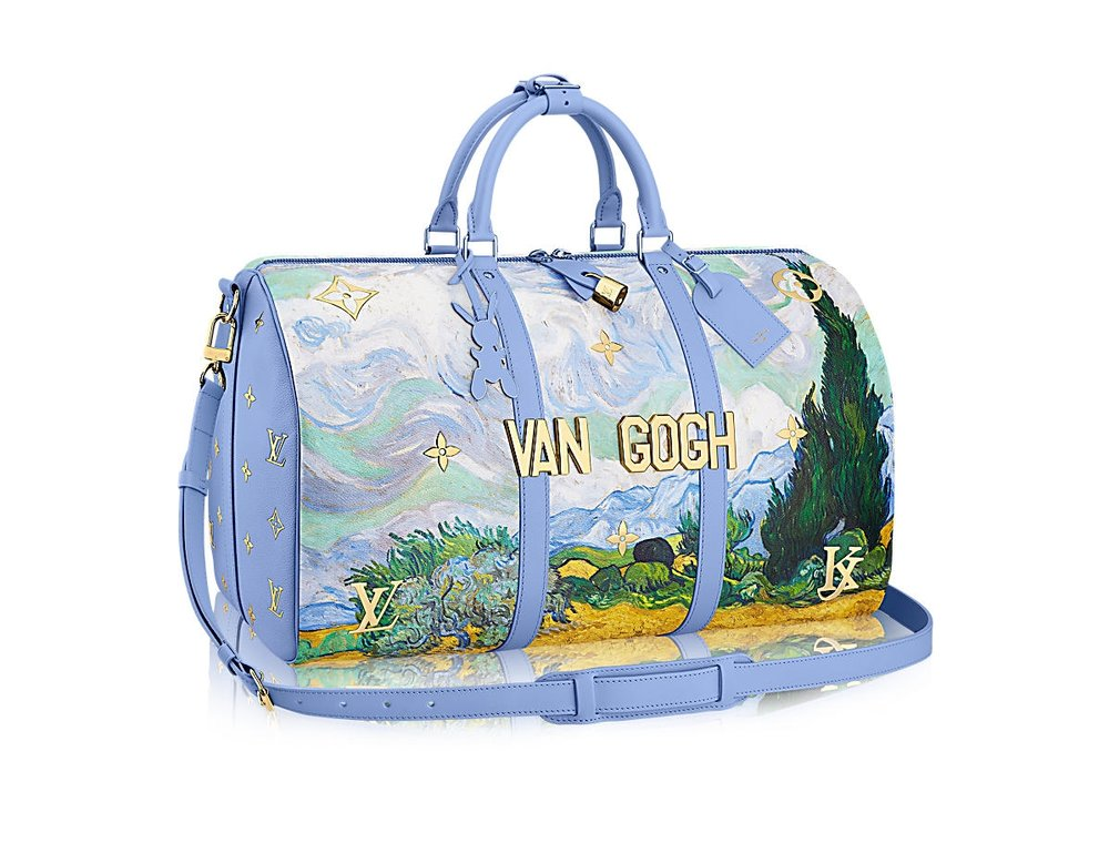 This Keepall 50 in Van Gogh retails for $4,000 on the Louis Vuitton website.