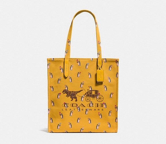 The Rexy and Carriage tote is online on the COACH website for $150.00.
